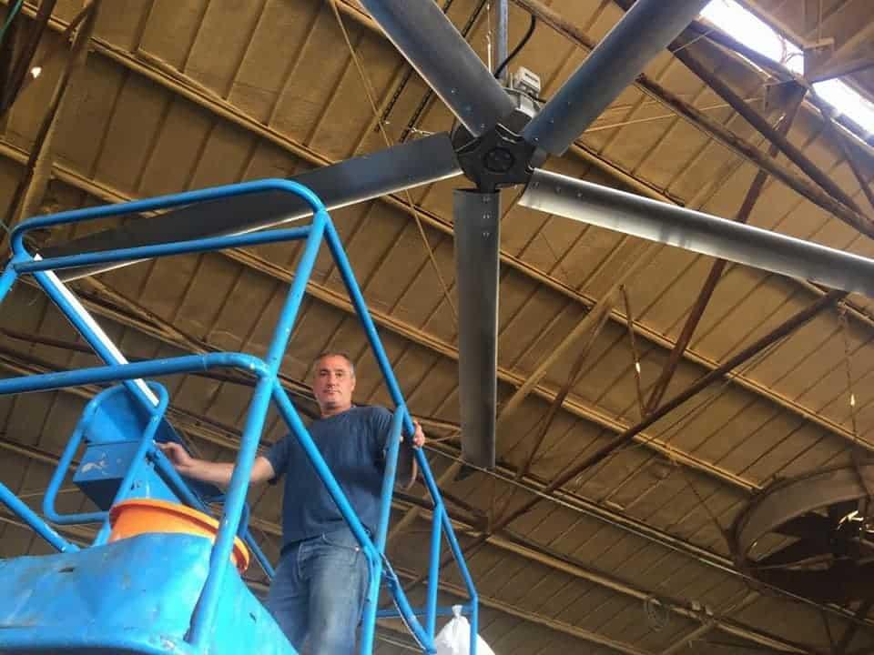מאוורר בטיחותי מאוורר תקרה תעשייתי