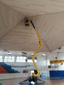 התקנת מאוורר תעשייתי באולם ספורט בכוכב יאיר